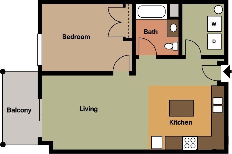 Citadel Apartments (One Bedrooms - $840-$950)
