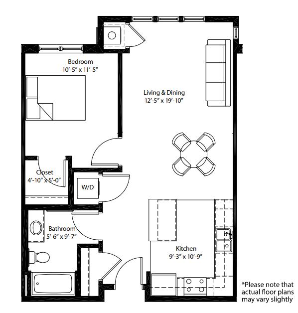 One Bedrooms - $790